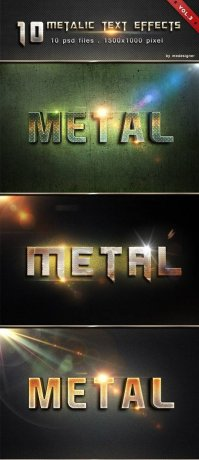 Metalic Text Effects V3